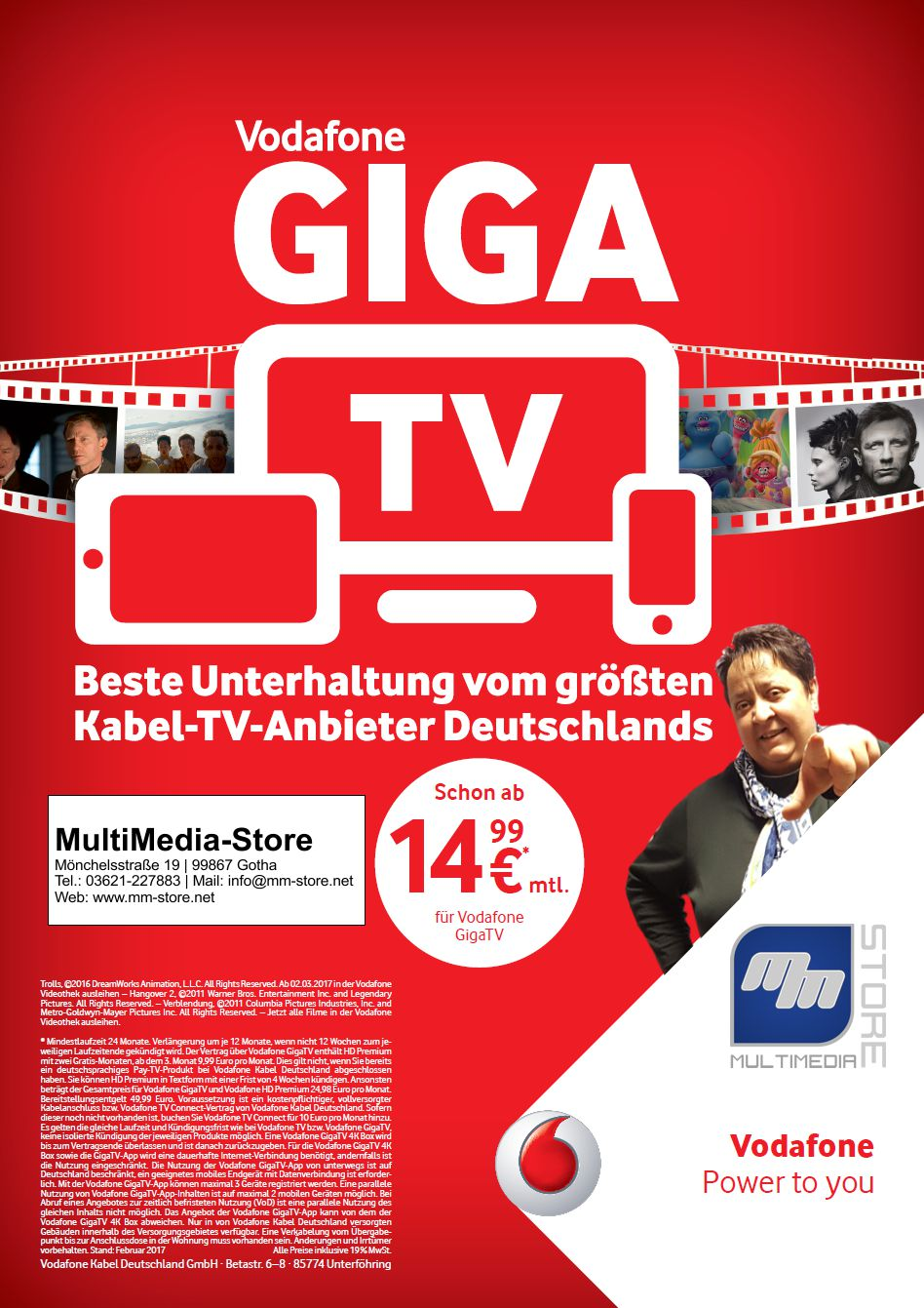 gigatv 4k box von vodafone kabel deutschland multimedia store gotha. Black Bedroom Furniture Sets. Home Design Ideas