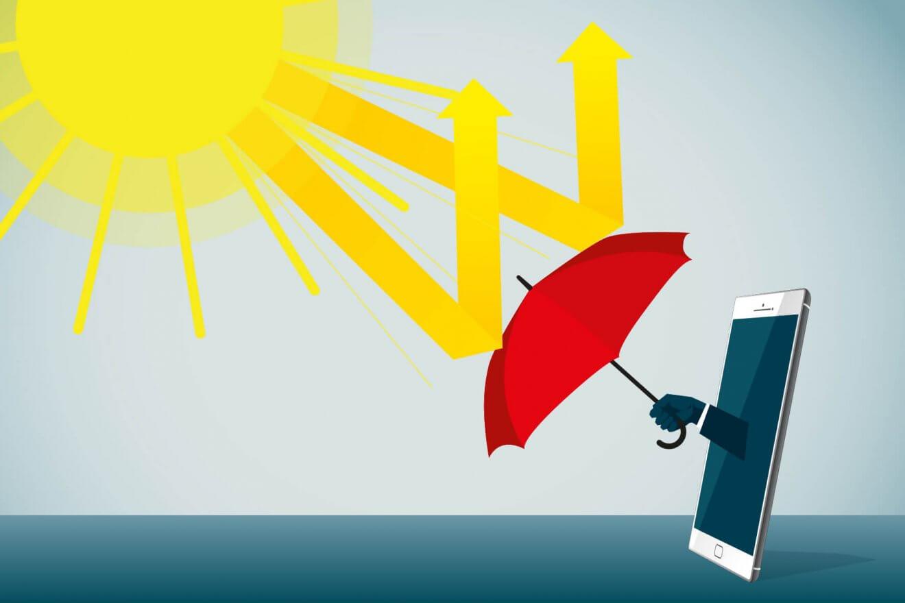 So schützen Sie Ihr Smartphone vor zu viel Hitze